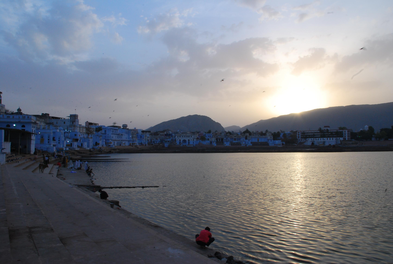 Pushkar Lake at sunrise