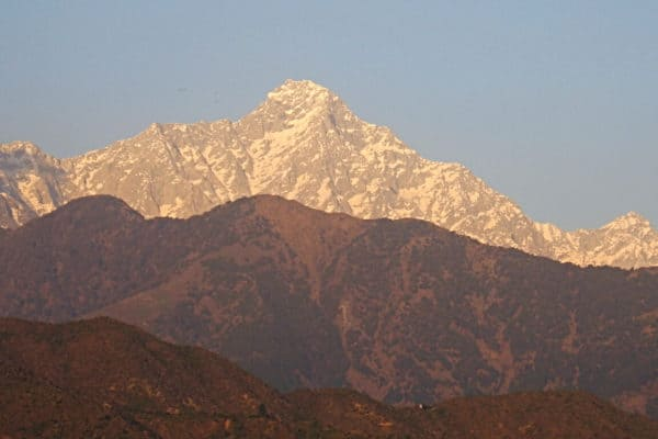The Himalayas as seen from Dharamsala, India
