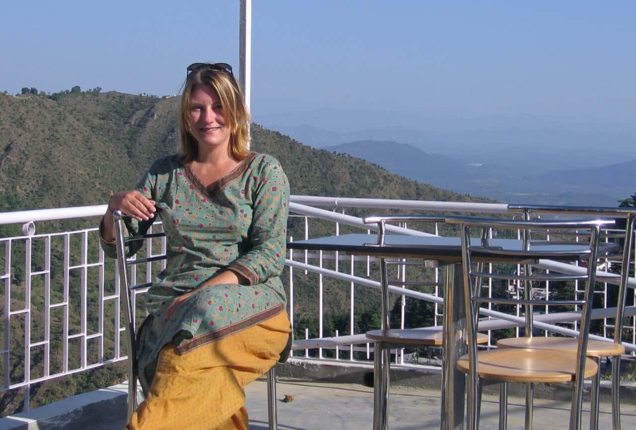 Mariellen Ward volunteering in Dharamsala