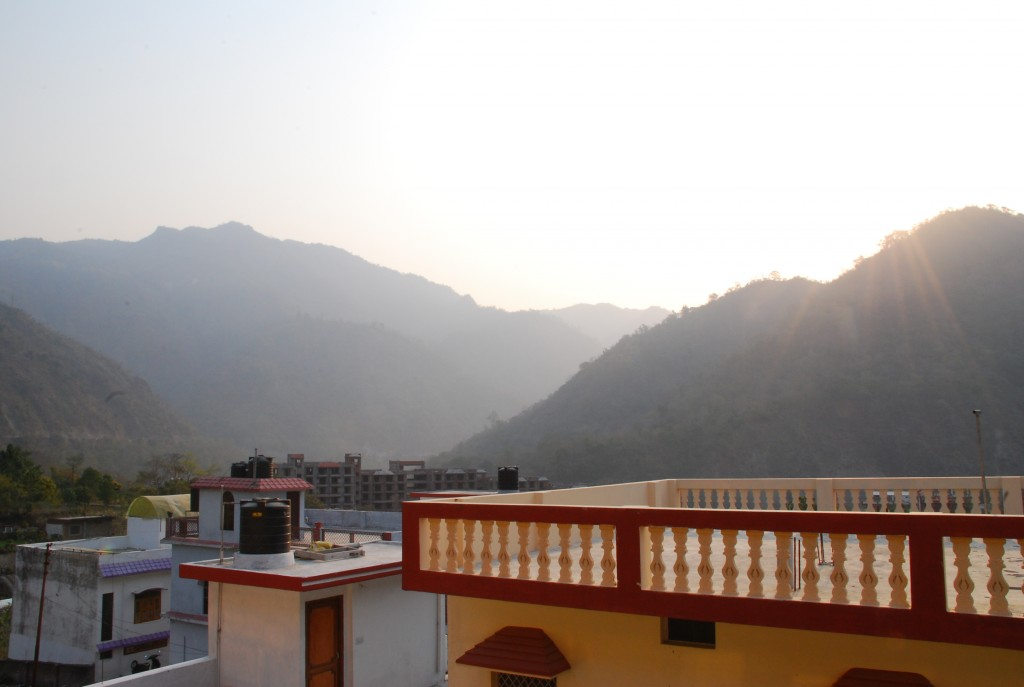 View of the majestic Himalayas from Anand Prakash Yoga Ashram