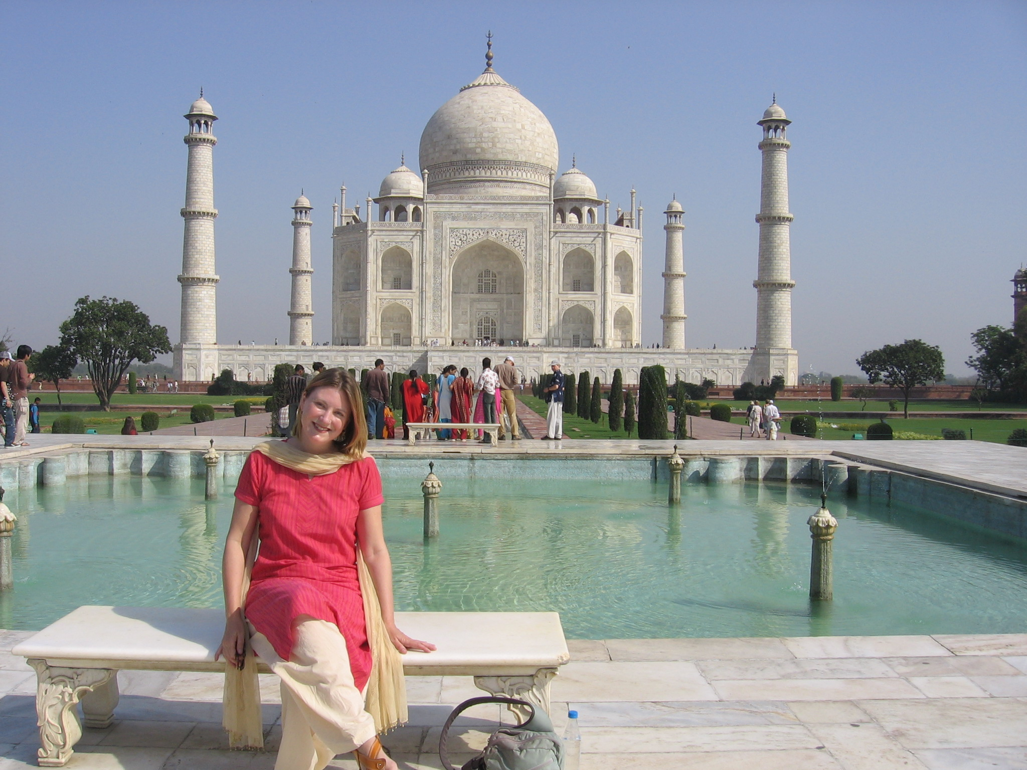 moi at the Taj Mahal