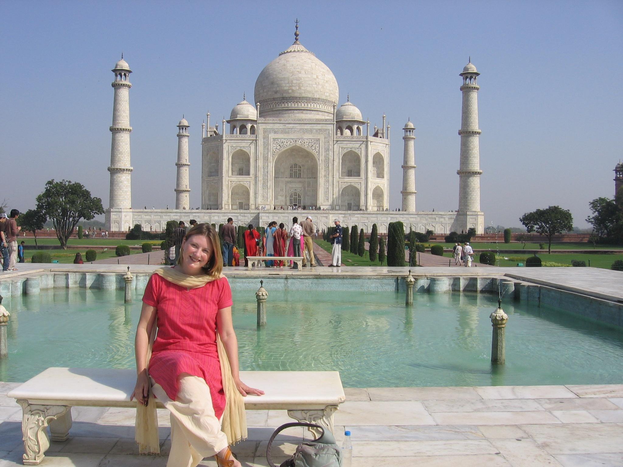 moi at the Taj Mahal