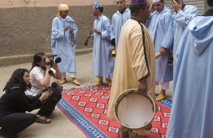 Amanda Koster working in Morocco