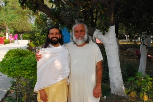 Yogi Vishvketu and Swami Brahmdev, my teachers, Aurovalley Ashram