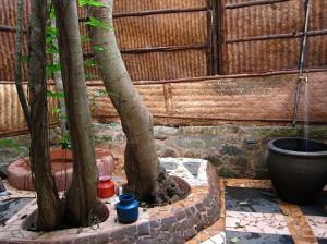 Outdoor bath in Goa, India