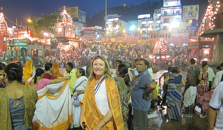 Photograph of Mariellen Ward at Kumbh Mela, India