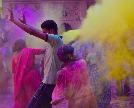 Holi Festival of Colour in India