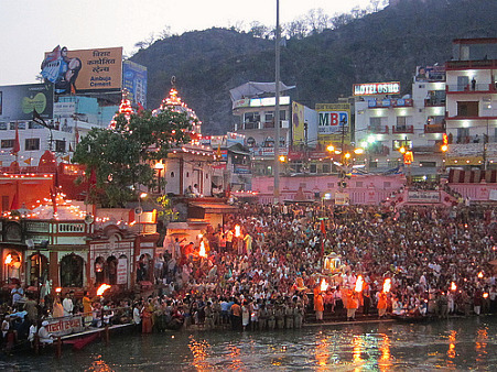 Kumbh Mela Festival in Haridwar, India, 2010