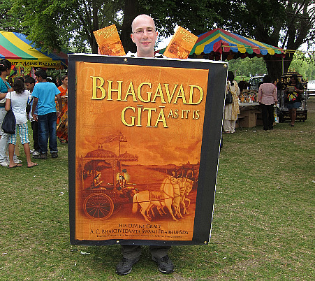 book at ISKCON Festival of India, Toronto Island, Summer 2010