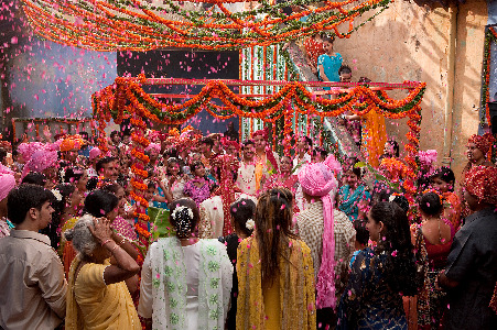 Indian wedding photograph from the film Eat, Pray, Love