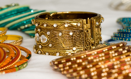 Photograph of Indian jewelery and bangles