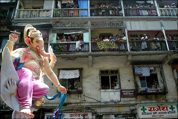 Ganesh Chaturthi in Mumbai, India