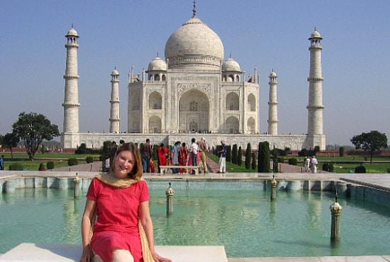 Mariellen at Taj Mahal, India