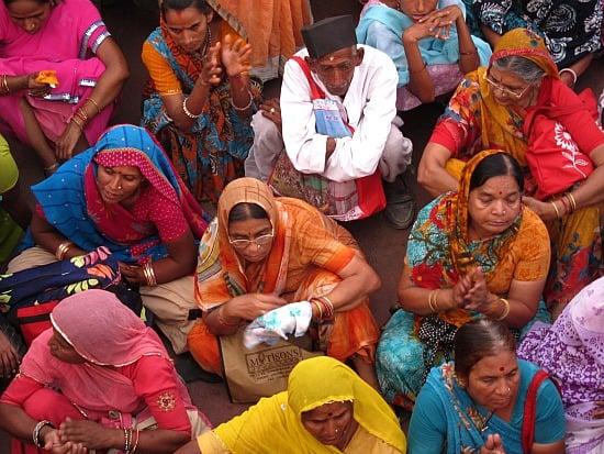 Crowd at the Kumbh Mela, Har-ki-pauri, Haridwar, India