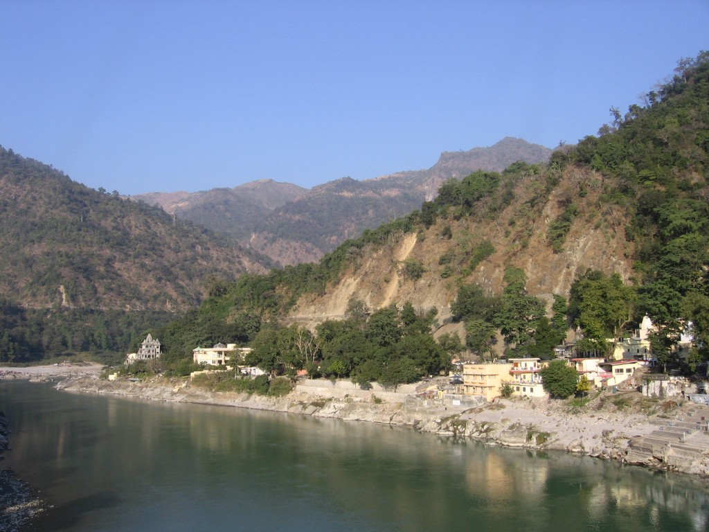 Ganges River in Rishikesh, India