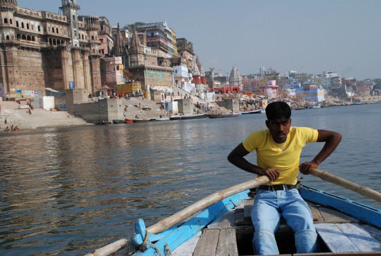 On the Ganges River in Varanasi, India