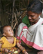 woman and child in India, from UNICEF India website