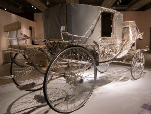 Silver plated carriage at the Art Gallery of Ontario exhibit Maharaja: The Splendour of India's Royal Courts