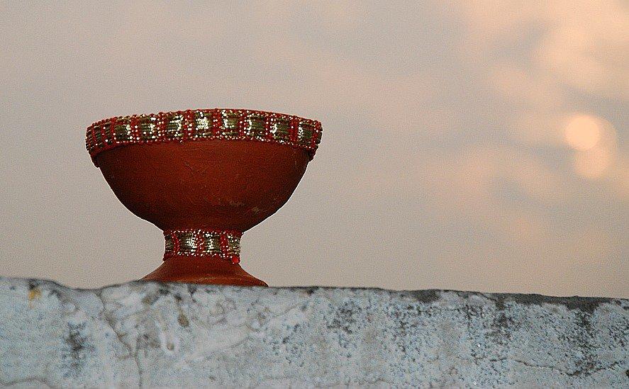 Dwali diya, Delhi, India