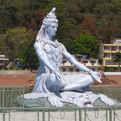 Shiva, god of yoga, in Rishikesh, India