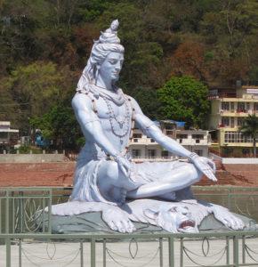 Shiva, god of yoga, in Rishikesh, India