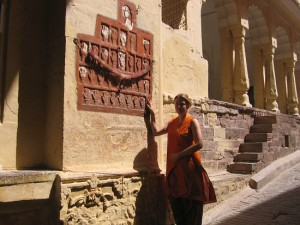 Mariellen and sati prints, Mehrangarh Fort, Jodhpur, Rajasthan