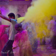 photograph of people playing Holi, India by Dave Bouskill