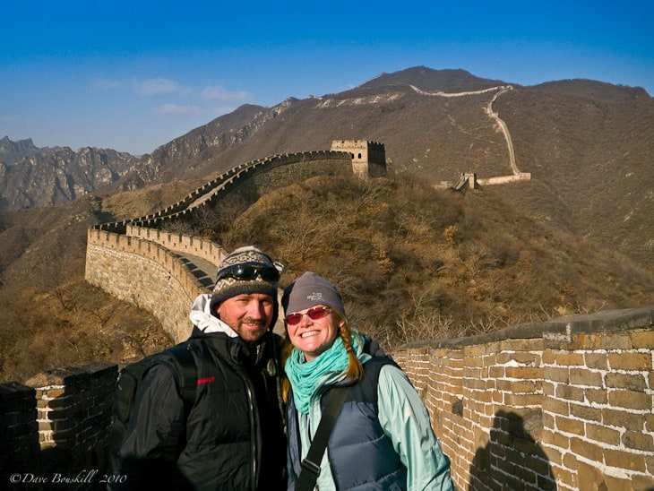 Photograph of Dave Bouskill and Debra Corbeil of ThePlanetD in China