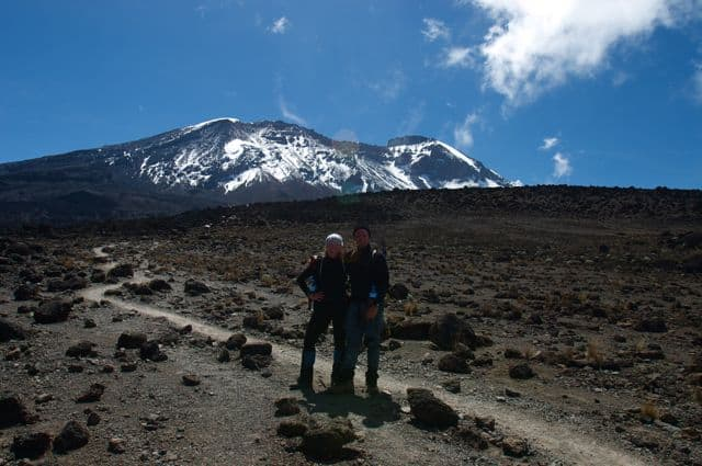 Photograph of Dave Bouskill and Debra Corbeil of ThePlanetD in Tanzania, Africa