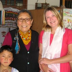 With Ama Adhe and students at Art Refuge, Dharamsala, India 2006