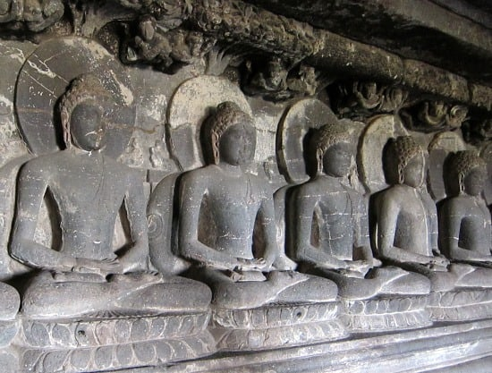 Buddhist cave at Ellora, near Aurangabad, India