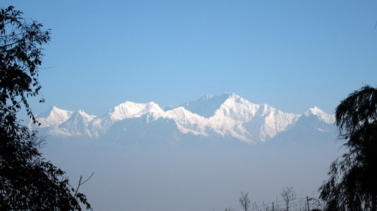 Photo of Kanchendzonga at sunrise from Tiger Hill, Darjeeling, March 8, 2010