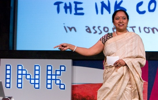 Photo of Lakshmi Pratury courtesy of Gene Driskell for The INK Conference