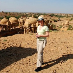 Mariellen at Bada Bagh, Jaisalmer, India