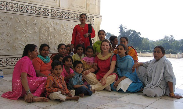 photograph of Mariellen Ward at Taj Mahal, Agra, India
