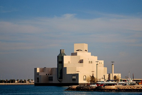 Photograph of Museum of Islamic Art in Doha, Qatar, designed by architect I.M. Pei