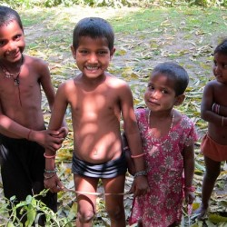Photograph of children in India