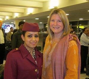 Photograph of Qatar Airways flight to India - at JFK airport in New York