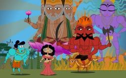 Still from feature length cartoon Sita Sings the Blues by Nina Paley