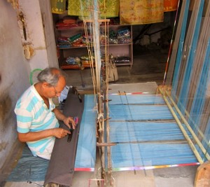 Photograph of sari weaver, Bundi, Rajasthan, India