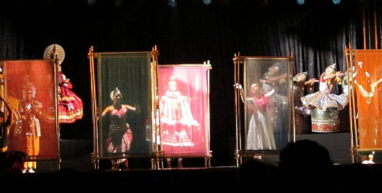 Photograph of Kathak, Odissi, Bharat Natyam dancers at National Tourism Awards, Delhi, India