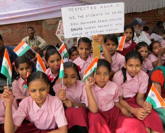 Anna Hazare anti-corruption protest, April 8, 2011 in New Delhi, India