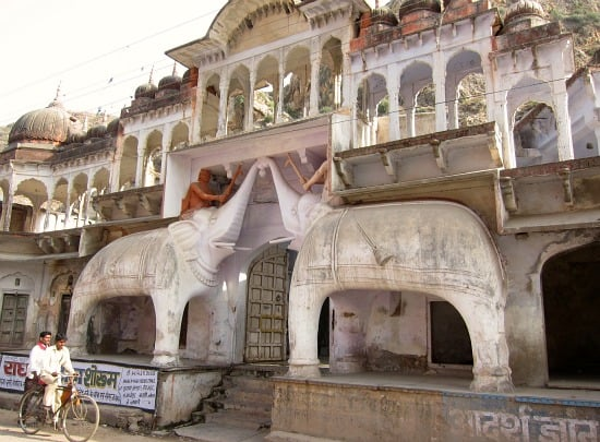 Photograph of palace, temple in Sawai Madhopur, Rajasthan, India