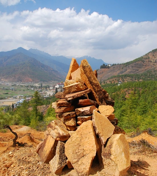 Photograph of Paro Valley, Bhutan