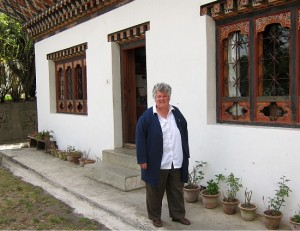 Photograph of Nancy Strickland, Bhutan Canada Foundation, Thimpu, Bhutan