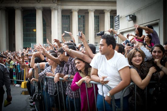 Fans waiting outside the Fairmont Royal York Hotel during the IIFA Awards. Photo courtesy Andrew Adams of Katha Images.