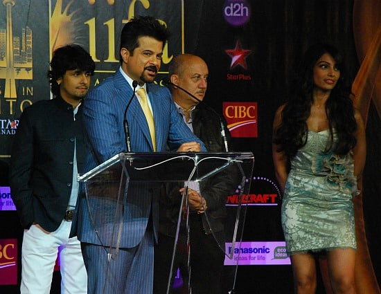 Photograph of Bollywood stars at IIFA Awards in Toronto Anil Kapoor