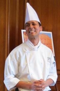 Photograph of chef Vishwa Mohan of the Fairmont Royal York Hotel