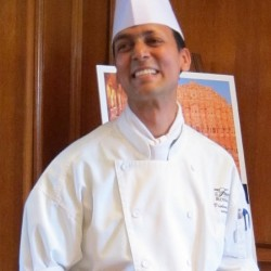 Photograph of chef Vishwa Mohan of the Fairmont Royal York Hotel