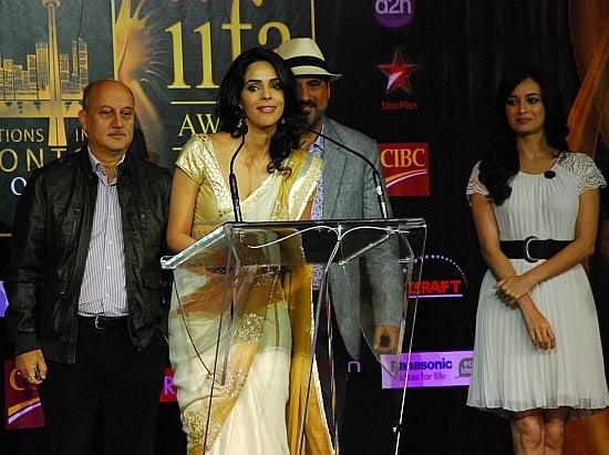 Photograph of Bollywood stars at IIFA Awards in Toronto Mallika Sherawat